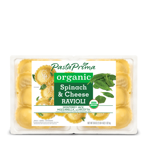 Organic Spinach & Cheese Ravioli Club Size