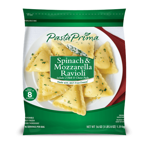 Spinach & Mozzarella Ravioli Club Size