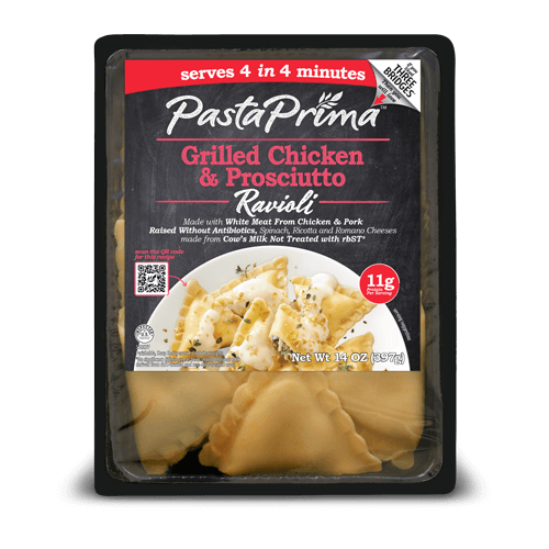 Grilled Chicken & Prosciutto Ravioli