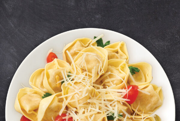 Three Cheese Tortellini with a Herb & Tomato Garlic Oil