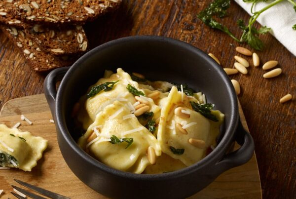 Organic Spinach & Cheese Ravioli with Brown Butter Sauce